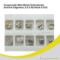 Wholesale Packs Edgewise Dental Products Metal Mini Orthodontic Bracket Braces with Hook