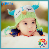Cheap 2013 new arrival fitted hat baby owls for sale crochet hats for babies 12pcs lot dhl free shipping (07)