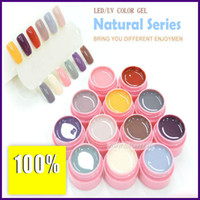 Wholesale Newest Coming colors ML For Nail Art Tips Extension DIY LE D UV color nail gel Pot Series Series uv gel Nail polish happy share