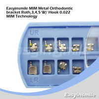 Yes Yes  Free shipping 5 Packs Dental Products Roth MIM Technology Orthodontic Bracket Braces 3,4,5 with hook 0.022