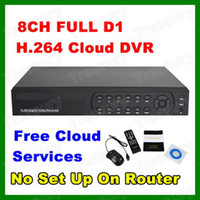 Wholesale HD Full D1 CH H Real time Security CCTV DVR Remote Surveillance Connect Internet Via Cloud DHL Free