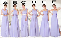 Sleeveless alternative mix - Alternative Lavender Bridesmaid Dresses Long Multi Style Mix Order Actual Images A Line Beautiful Cheap Beach Bridal Party Dresses For Girls