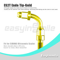 No No Manual ES2T Ultrasonic Scaler Endo File Holder Gold Tip 95 degree chuck compatible with Sirona Ultrasonic Sclaer