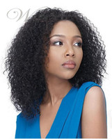 Wholesale Oxette free ship Afro kinky curly human hair glueless full lace wig amp front lace wigs virgin hair Brazilian for black women