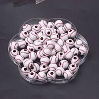 Round acrylic beads - chunky beads Acrylic baseball Beads MM