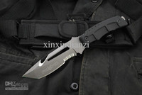 Wholesale Top quality Exploration Fox tracker Straight knife dventure Diving Knife diving knife Cr13 Blade knives Made in China g Christmas gift