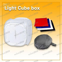 Wholesale LLFA1562 quot inch cm Photo Studio Softbox Light Tent Cube Soft Box with Backdrops