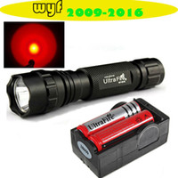 Wholesale UltraFire WF B LM Modes CREE Q5 RED Flashlight Torch Battery Changer