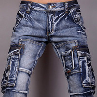 Wholesale Jeansian Mens Designer Jeans Denim Pocket Stylish W30 L32 J005