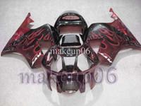 Wholesale Customized fairing black red flames VTR1000 SP1 RC51 Body Kit Fairing for Honda