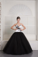 Wholesale 2013 Sexy Elegant Tulle Satin V neek Evening dress Chinese Style Prom Dress Ball Gowns