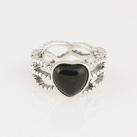Wholesale silver heart rings made of sterling silver rings for pretty girls gifts price hot sale item RIP040