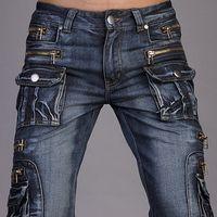 Wholesale Jeansian Mens Designed Jeans Denim Stylish Pocket W30 L32 J008