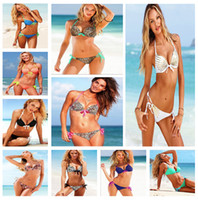 Wholesale High Fashion Sexy Swimwear Strap Push up Top Bikini Set Sexy Lady Swimsuit Hot Bathing Suit