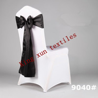 Cheap BLACK BLACK satin chair sash\chair tie chair bow\satin chair sash\wedding chair sash\chair cover(TOP QUALITY)