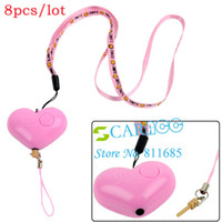 Wholesale 8pcs Newest Hand Pull Style Mini Heart shaped Anti Lady killer Anti theft Anti Lost Reminder Alarm C10975