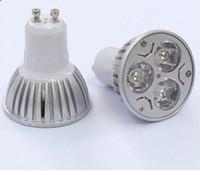 Cheap 15pca lot Promotion GU10 3X1W 3W 110V-240V Warm White Down Light LED Bulbs High Quality