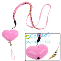 Wholesale New Heart shaped design Hand Pull Style Mini Anti Lady killer Anti theft Anti Lost Reminder Alarm C10975