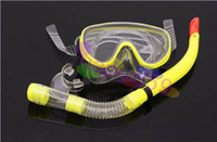Wholesale diving snorkeling equipment set swimming goggles tempered glass goggles Semi dry snorkel diving Tube Set free ship