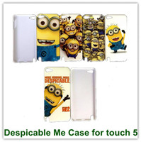 Wholesale 2PCS Hot Sales Despicable Me Back SKin Covers Back Case for iPod touch