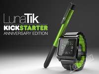 Wholesale 1pcs New Hot Metal aluminum material LunaTik Lynk Watch Kits Band luna tik Wrist Strap Case For iPod Nano