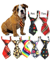 Wholesale Pet Ties Necktie Adjustable Dog Bow Tie Necktie Dog Clothing Pet Accessories in stock Can Choose Color