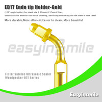 No No Manual ED1T Ultrasonic Scaler Endo File Holder Tip Gold 120 degree chuck compatible with Satelec Woodpecker-DTE