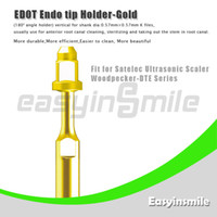 No No Manual ED0T Ultrasonic Scaler Endo File Holder Gold Tip 180 degree chuck compatible with Satelec Woodpecker-DTE