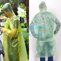 Wholesale Plastic PE Travel rain coat disposable rain poncho Emergency Waterproof Raincoat color