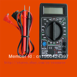 Wholesale with track number New LCD Digital Multimeter DT830B not include V battery
