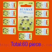 hearing aid batteries - 60 x Hearing Aid Batteries A10 A ZA10 PR70