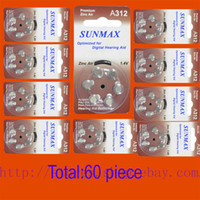 air hearing aids - 60 x Hearing Aid Batteries A312 A ZA312 PR41 U
