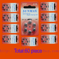 hearing aid batteries - 60 x Hearing Aid Batteries A13 A ZA13 PR48