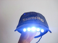 Wholesale Base Ball Cap Hat Visor LED Clip On Flashlight Light