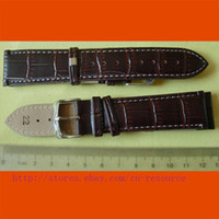 Wholesale 1 x mm GENUINE COW LEATHER watch band coffee