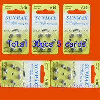 hearing aid batteries - 30 x Hearing Aid Batteries A10 A ZA10 PR70
