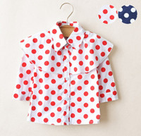 2013 Girl's Fashion Polka Dots Shirts Spring And Autumn styl...