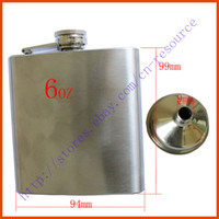 Wholesale New Stainless Steel Hip Liquor Alcohol Flask Funnel Cap oz