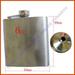 Wholesale New Stainless Steel Hip Liquor Alcohol Flask Funnel Cap oz