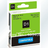 Wholesale Black on Clear Label Tape Compatible for DYMO D1