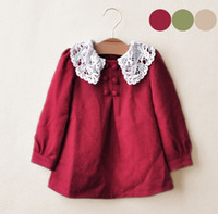 2013 Girl's Lace Collar Dresses Thicker Woolen Dolls Style D...