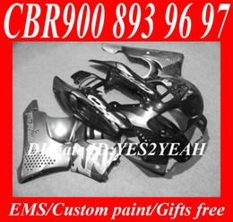 Fairing kit for HONDA CBR900RR 96 97 CBR 900RR CBR900 CBR 900 RR 893 1996 1997 silver black Fairings body kit+7gifts Hx27