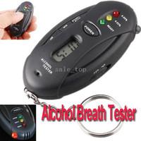 Wholesale Digital LCD Alcohol Tester Analyzer Breath Breathalyzer H17 freeshipping dropshipping
