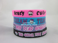 Wholesale Monster High Rubber Wristbands Bracelets Favors silicone bracelet printed wristband