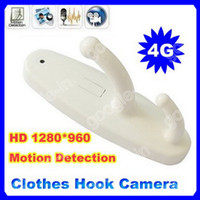 Wholesale 4GB Card HD Clothes Hook DVR Camera FPS Mini Spy Camera With Motion Detection Hidden DVR Cam White