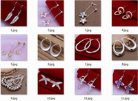 Wholesale Mix Style Silver Earring Jewelry Lady Girls Woman Big Hoop Earrings Korea Style Drop Earrings Sanding Earring Gold Circle Earrings Mixed