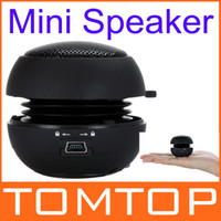 Wholesale Portable pocket Mini Hamburger Speaker for iPhone iPad iPod Laptop PC MP3 Audio Amplifier Black V507B