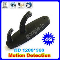 Wholesale 4GB Card HD Black Clothes Hook DVR Camera FPS Mini Spy Hidden DVR Camera With Motion Detection