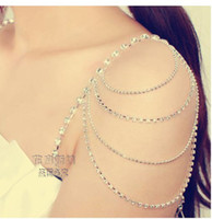 Wholesale Wedding Bridal Jewelry Wedding Jewellery Rhinestone Crystal Wedding Bridal Jewelry Bridal Crystal Dress trap Tassel Belt Bra Strap