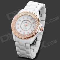 Wholesale SINOBI Fashion Ceramic Band Quartz Analog Waterproof Wrist Watch x LR626